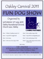 Oakley dog show flyer